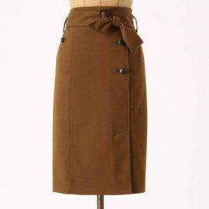 Cartonnier Trench Coat Pencil Belted Wrap Skirt
